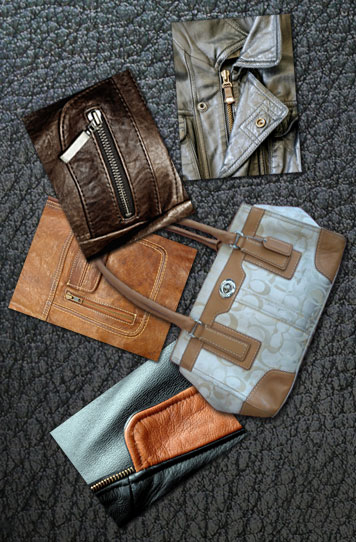 some of the leather products we clean and repair at LA Leather Cleaners